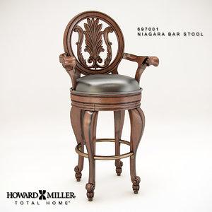 3d howard niagara bar stool model