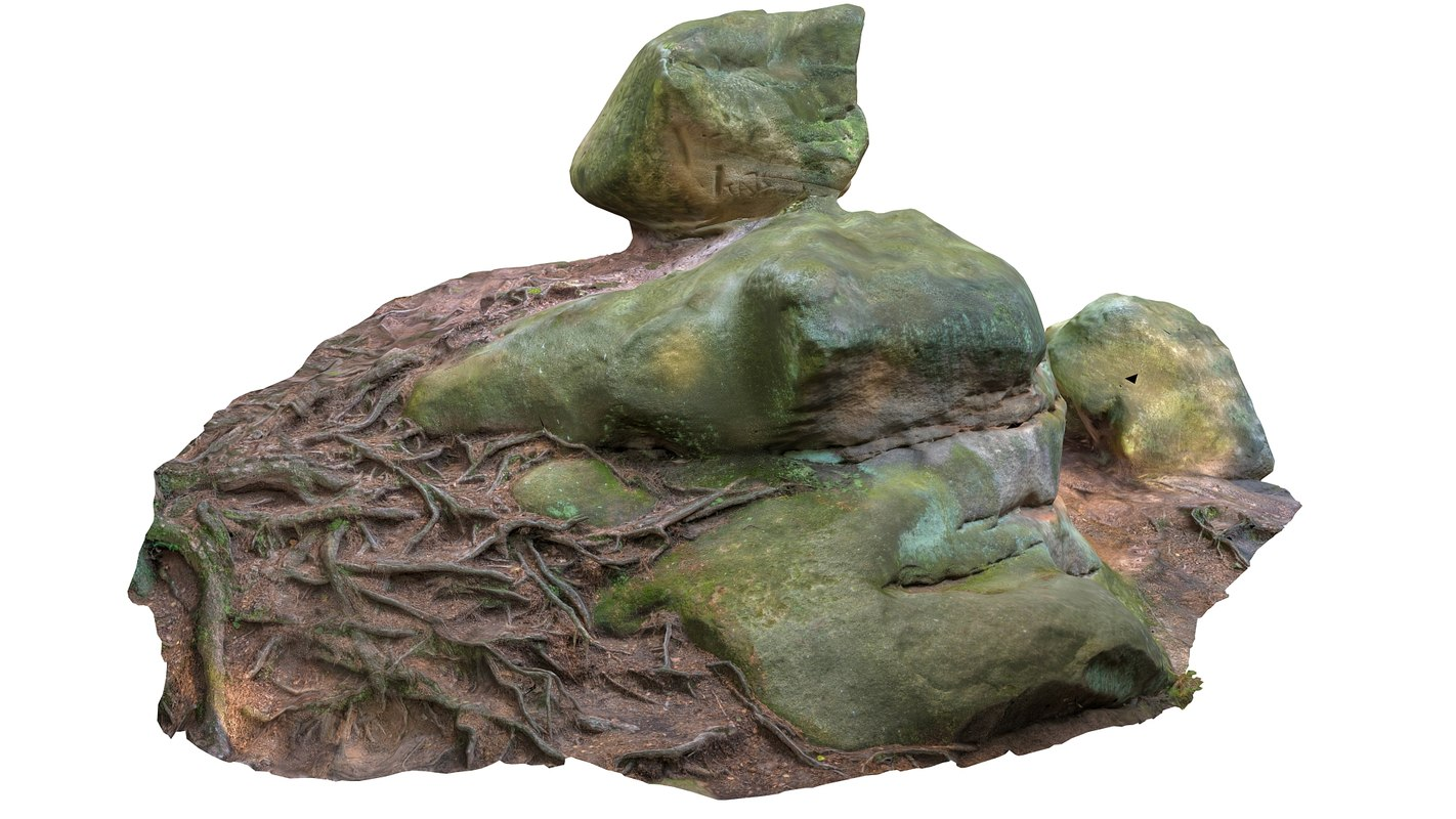 3d model of landscape rock