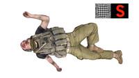 3d model of dead soldier