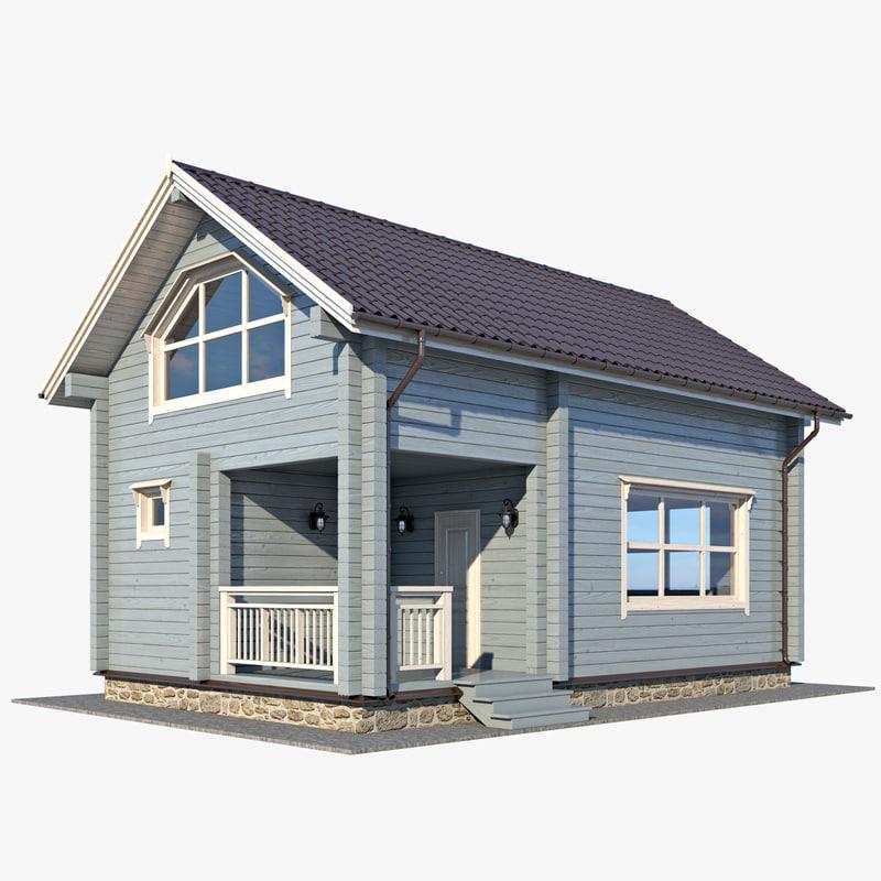3d max log house