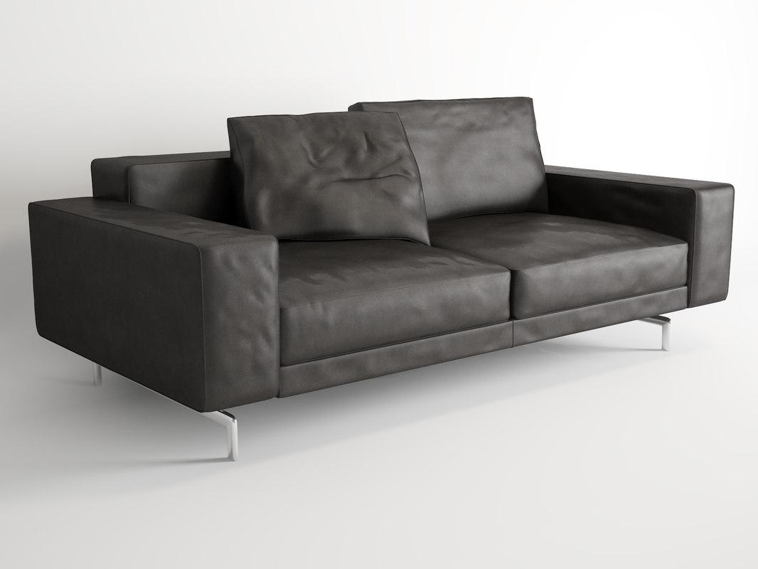 3d model minotti sherman sofa