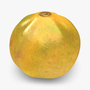 3d clementine green mix model