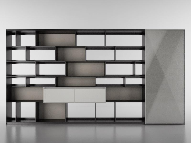 3d b bookcase 8 - model