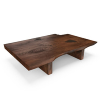 hudson live edge coffee table 3d max