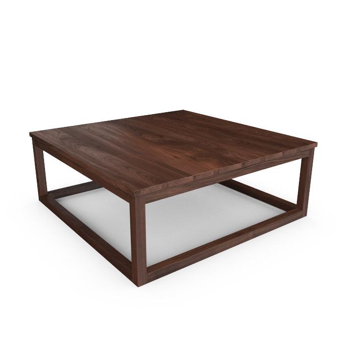 hudson reclaimed teak coffee table 3d max