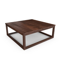 hudson reclaimed teak coffee table 3d max