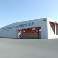 3d hangar aircrafts scenes