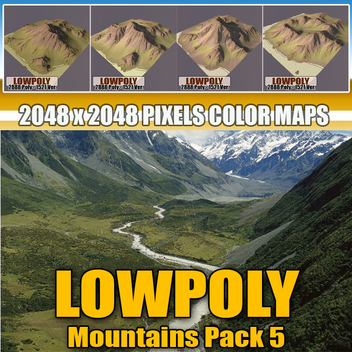3d mountain pack