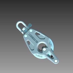 3d lewmar single becket block model