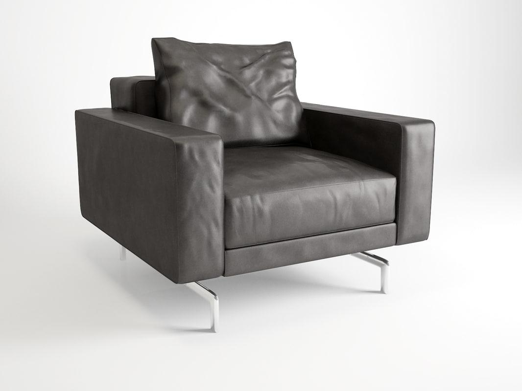 3d minotti sherman armchair model