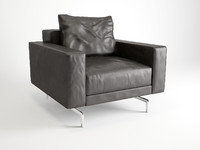 3d minotti sherman armchair model