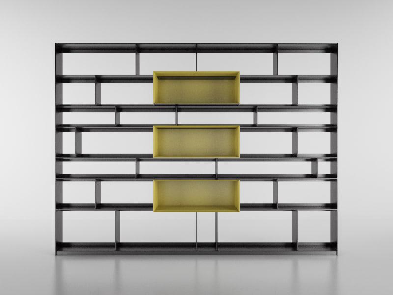 3d model b bookcase 12 -