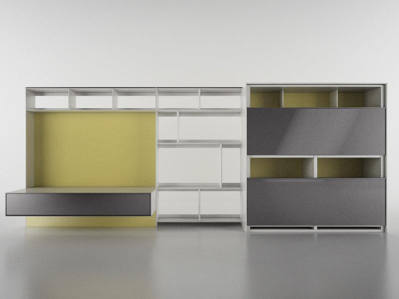 b bookcase 16 - 3d c4d