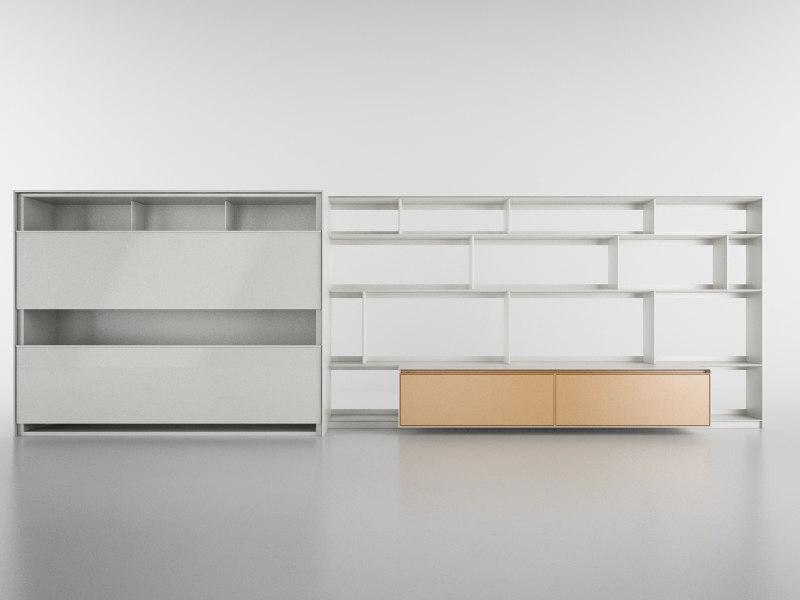 3d b bookcase 17 - model