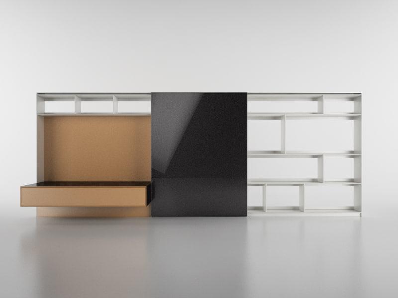 c4d b bookcase 20 -