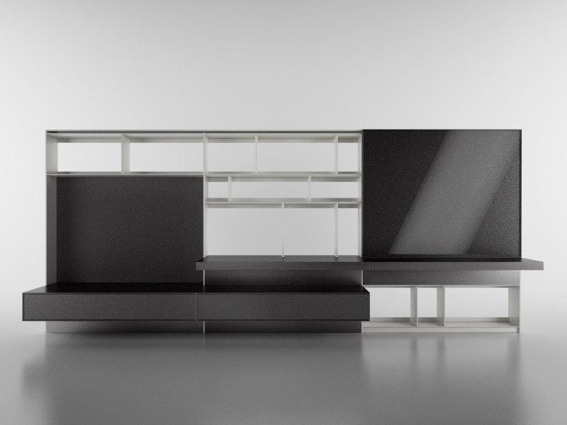 3d model b bookcase 24 -