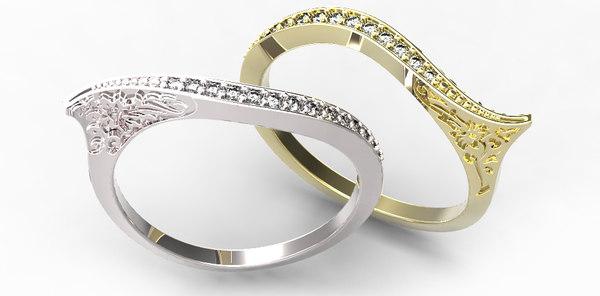3d model of gold ring