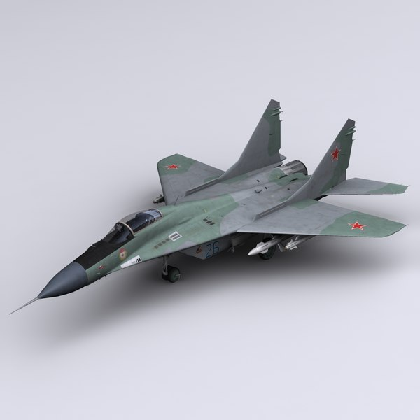 mig-29 fulcrum jet fighter 3d model