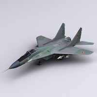 3d mig-29 fulcrum jet fighter model
