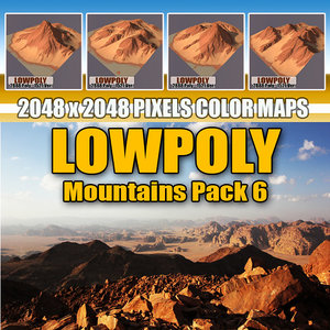 3d red mountains pack 6