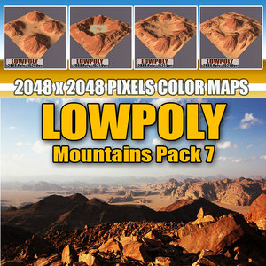 red mountains pack 3d model