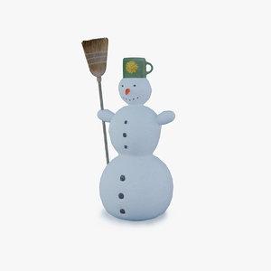 snowman broom snow max
