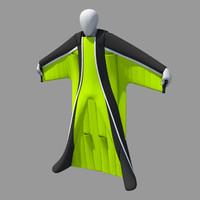 wingsuit rig 3d obj