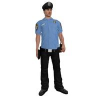 rigged police officer 2 3d model