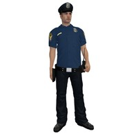 3d model rigged police officer 6