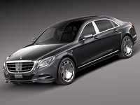 mercedes-benz s-class maybach 3d c4d