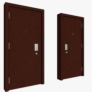 entrance security door 01 3d model