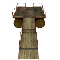 3d model pier air barrels