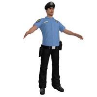 police officer 2 3d model