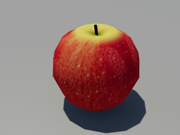 free juicy apple 3d model