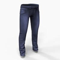 denim jeans 3d model