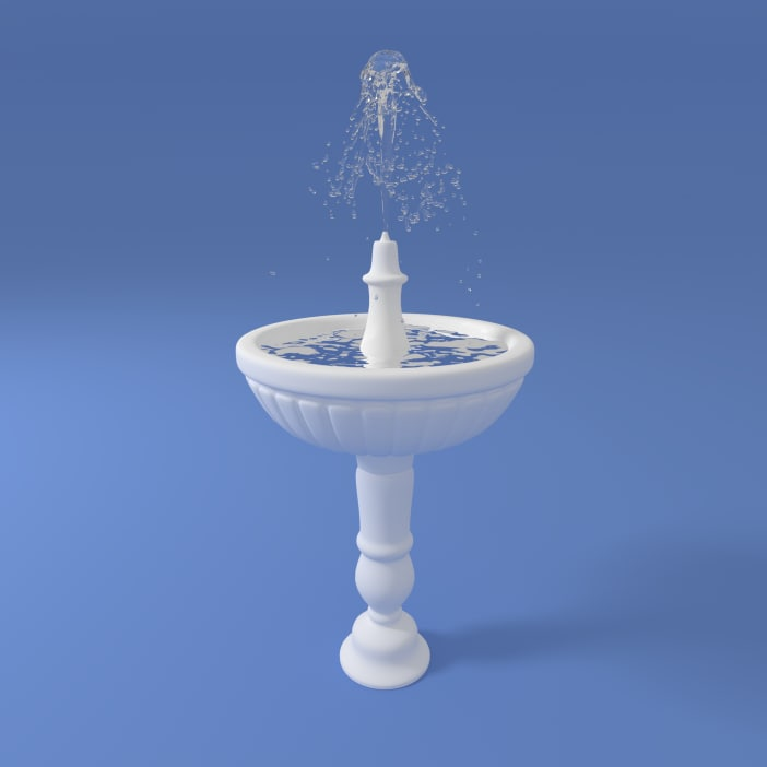 fountain fount water 3d model