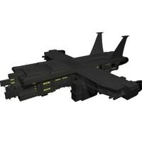 uac spaceship 3d max