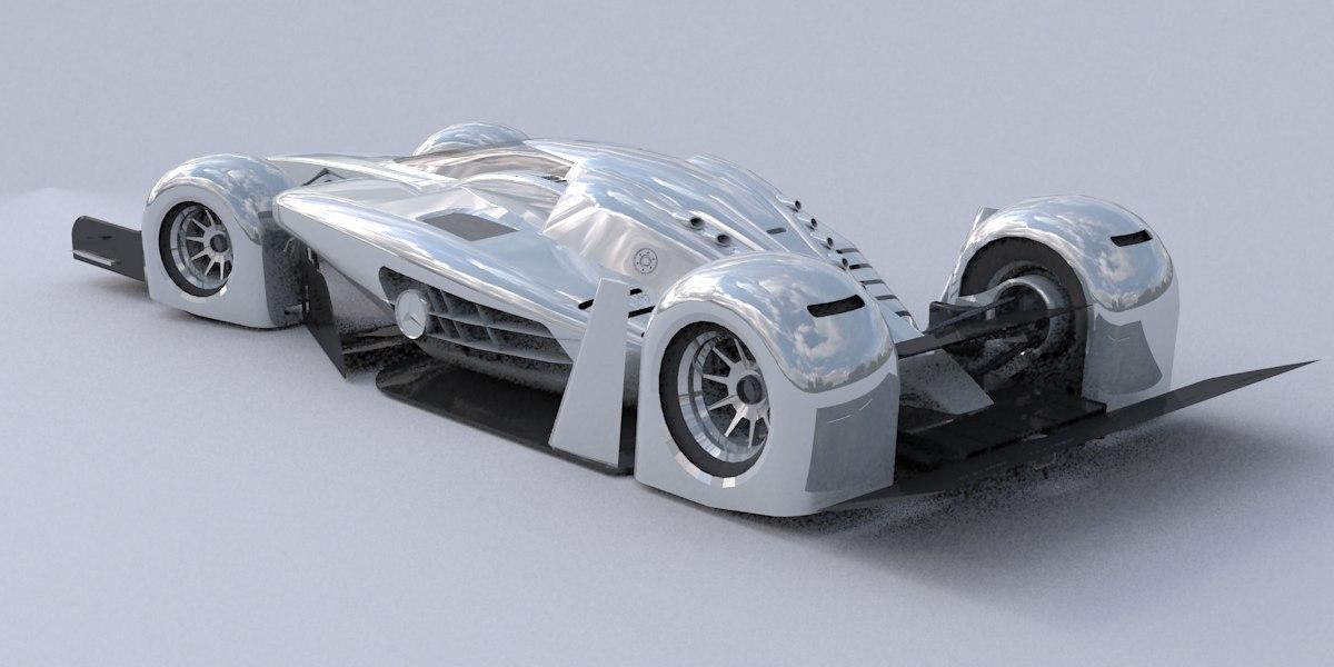 3ds max race car concept