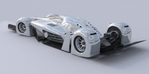 3ds max race car concept