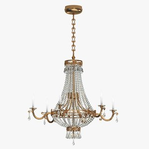 3d max chandelier