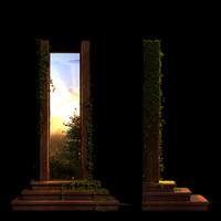 3d model architectural magic portal