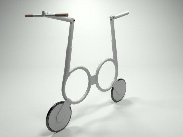 3d model impossible folding electric bike