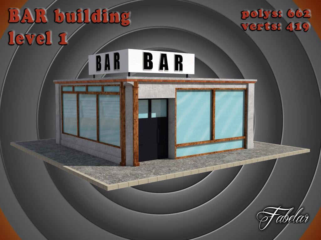 bar level 1 3d max