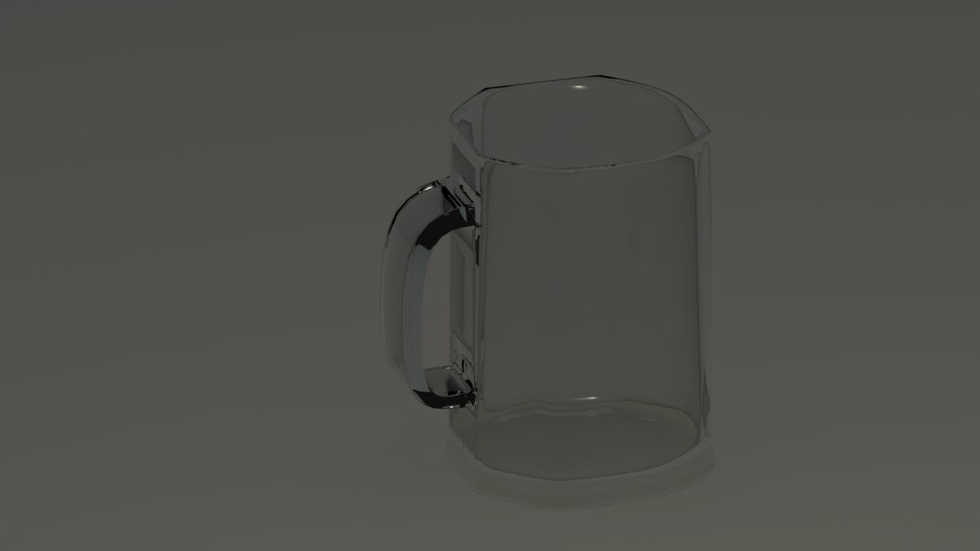 beer glass pint 3d max