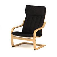 ikea polang armchair 3d model