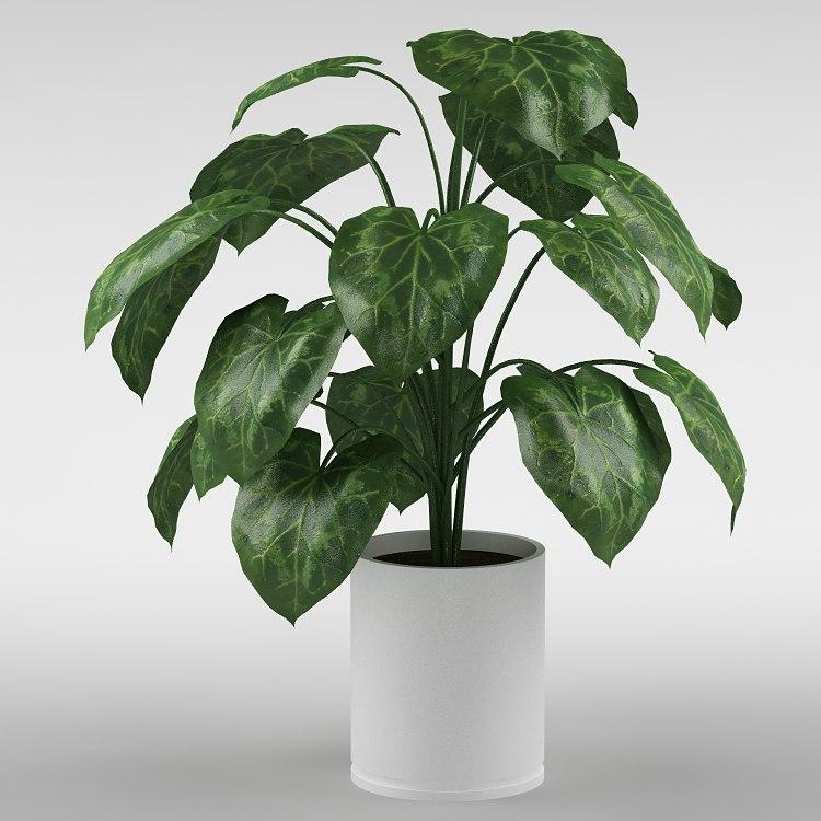 3d plant flowerpot max8 model