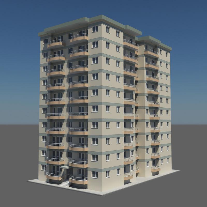 floor building 3d model
