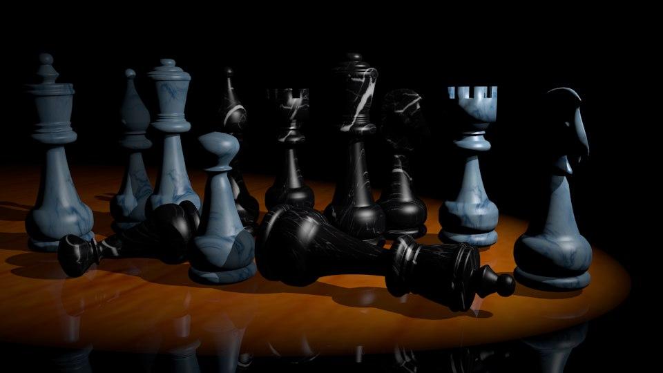 3d model marble chess