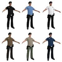 3d police officer model