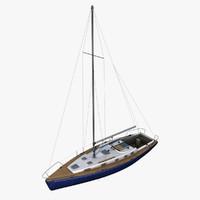 3d boat sailboat sail